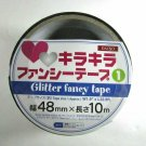 NIP Heart on Silver Fancy Adhesive Decorative Masking Tape for Crafting, 1.9""