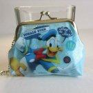 Disney Classic DONALD DUCK Sparkling Blue Snap Coin Purse Wallet