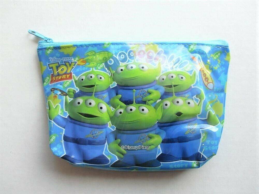 Disney Pixar TOY STORY Little Green Men Alien Blue Cosmetic / Makeup Pouch