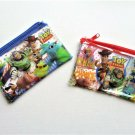 NIP Disney / Pixar TOY STORY Clear Coin Puse / Wallet / Makeup Case, Blue & Red