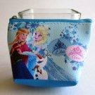 NIP Disney Mini Cosmetic Pouch / Wallet, Frozen ANNA, ELSA & OLAF Free Shipping!