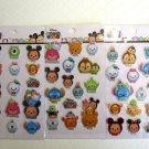 NIP Set of 3 Sheet Disney / Pixar Tsum Tsum Puffy Sparkling Stickers, Free Ship!