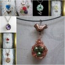 Bead & Wire Nestled Bird Egg Pendant / Necklace, Great Mother's Day Gift!