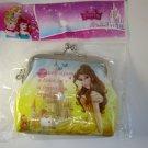 NIP Disney Princess Gamaguchi D, BELLE (Beauty and the Beast) Coin Purse Wallet