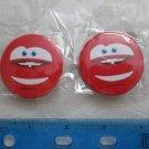 NIP Set of 2 Disney CARS Lightning McQueen Pin Back Buttons, Free Shipping!