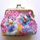 NIP Disney Coin Purse Wallet Donald Duck & Daisy Duck, Pink Polka Dot Free Ship!