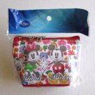 NIP Disney Mini Cosmetic Pouch / Wallet, Mickey Mouse & Minnie Mouse Flowers