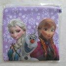 "Disney FROZEN 6 x 6"" Fabric Makeup Gift Bag, Purple Flower,  ANNA, Elsa & Olaf"