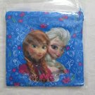 """Disney FROZEN 6 x 6"""" Fabric Makeup Gift Bag, Blue Flower Print, ANNA & ELSA,"""