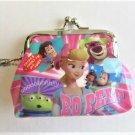 Disney Pixar Toy Story Buzz, Woody & Bo Peep Pink Coin Purse Gamaguchi Wallet