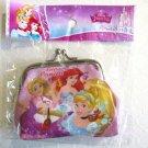 NIP Disney Princess Snap Coin Purse Wallet, Ariel, Aurora, Rapnzel, Belle etc