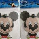 Set of 2 Disney Reflector Bag Charms / Keychain, Mickey, Minnie, Pooh, Stitch