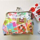 NIP Disney Classic Mickey Mouse Collage Gamaguchi Coin Purse Wallet, Free Ship!