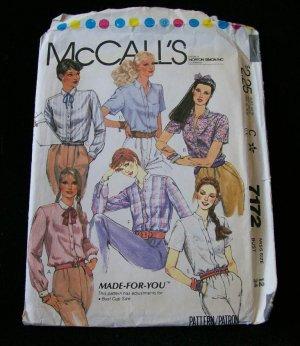 MCCALL'S PATTERN 7172