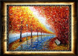 VALERY RYBAKOW Original pallete knife oil painting!