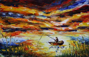 Seascape oil painting FISHING 146 by Valery Rybakow