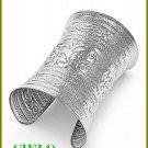 CIELO COUTURE  rhodiumtone distinctive filigree etched fashion bracelet on sale.