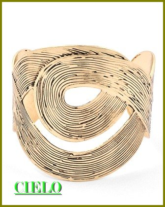 CIELO COUTURE  antique goldtone cultivated fashion bracelet on sale.