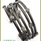 CIELO COUTURE multi row ice rhinestones fashion bracelet on sale.
