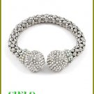 CIELO COUTURE shimmering rain shower and ice rhinestones fashion bracelet on sale.