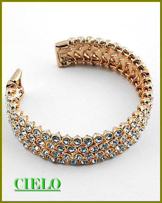 CIELO COUTURE runway couture elaborate metalwork fashion bracelet on sale.