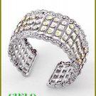 CIELO COUTURE fine crystal rainbow shower rhinestones fashion bracelet on sale.