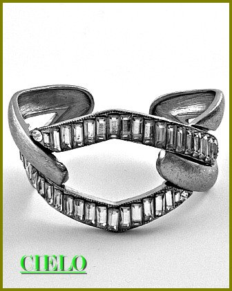 CIELO COUTURE emerald-cut ice crystal accent fashion bracelet on sale.