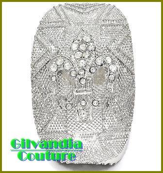 Ladies bracelet flaunts clear ice rhinestones with fine rhodiumtone cultivated finish.