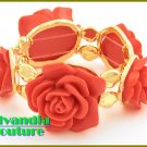 Red floral boutique bracelet with magnificent details and fantastic tone finish.
