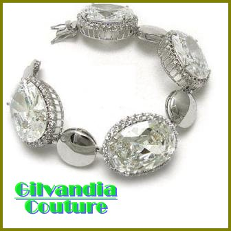 BonaFide!® Big bold blizzard ice CZ diamonds fashion bracelet by GILVANDIA COUTURE.