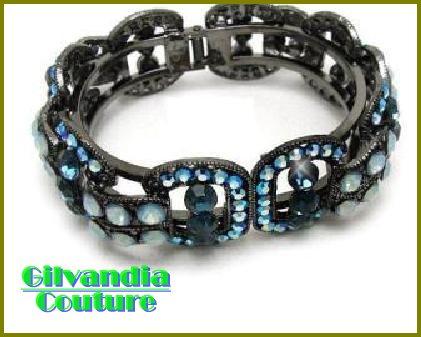 GILVANDIA COUTURE BonaFide!®  blue CZ diamonds fashion bracelet on sale now.