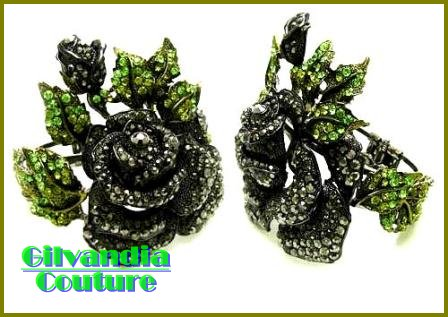 GILVANDIA COUTURE BonaFide!® colorful black ice CZ diamonds fashion bracelet on sale now.