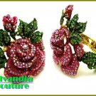 GILVANDIA COUTURE BonaFide!® encrusted Pink Rose fashion bracelet on sale now.