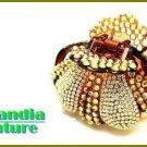 GILVANDIA COUTURE BonaFide!®  ice and topaz CZ crystal stones fashion bracelet.
