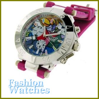 """Breathtaking high fashion look with 10"""" purple rubber strap fashion watch and two bonus gifts."""