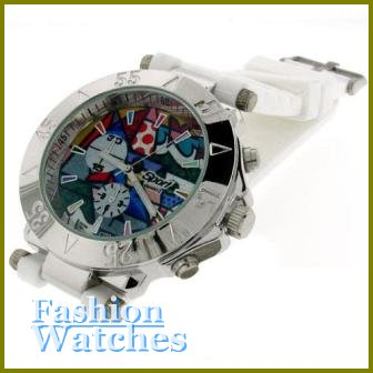 Hot Celebrity Looks! Fabulous 10'' white strap fashion watch with two bonus gifts. Limited Time.