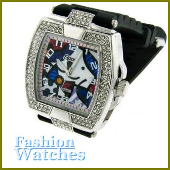 The New Breed!  10'' bold jet black rubber strap fashion watch with two bonus gifts.