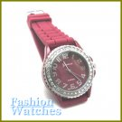 The new classic design in purple rubber strap fashion watch with two bonus gifts.