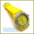 The new classic look with Corvette yellow rubber strap fashion watch and two bonus gifts.