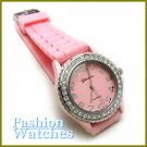 Marvelous designer look with candy pink rubber strap fashion watch and two bonus gifts.