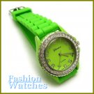 The hottest vogue design with golf course green rubber strap fashion watch and two bonus gifts.