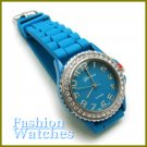 Fabulous Colors! Fantastic Scottish blue strap fashion watch with two bonus gifts. Limited Time.