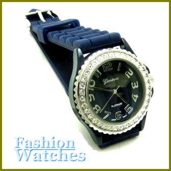 High Design Timepiece! Fantastic navy Blue strap fashion watch with two bonus gifts. Limited Time.