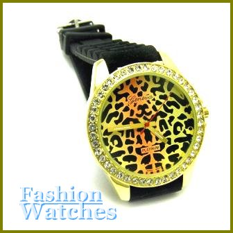 Vogue Timepieces! Gold Leopard Face, rubber strap fashion watch and bonus gifts. Limited Time.