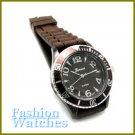 Vogue Styling! Chocolate brown rubber strap fashion watch and bonus gifts. Limited Time.