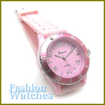 The New Classics! Candy pink rubber strap fashion watch and bonus gifts. Limited Time.