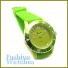 Cosmo Styling! Leaf green rubber strap fashion watch and bonus gifts. Limited Time.