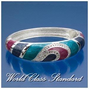Jacques Rennes Lacoste fashion bracelet with silver-moda, colorful boutique design.