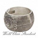 Jacques Rennes Lacoste fashion bracelet with Byzantium-styling, rhodium finished pewter.