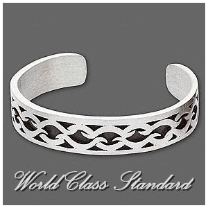 Metro Absolu® pewter fashion bracelet with black enamel and unisex design by J. R.Lacoste.